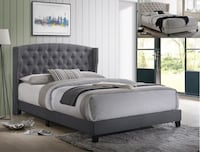 Brand new gray color platform bed frame only queen College Park