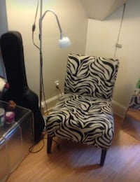 black and white zebra print chair Takoma Park, 20912