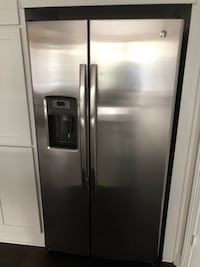 stainless steel side-by-side refrigerator with dispenser 24 km