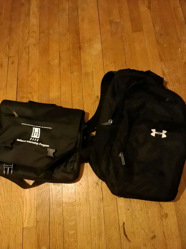 Underarmour backpack + NEW messenger bag