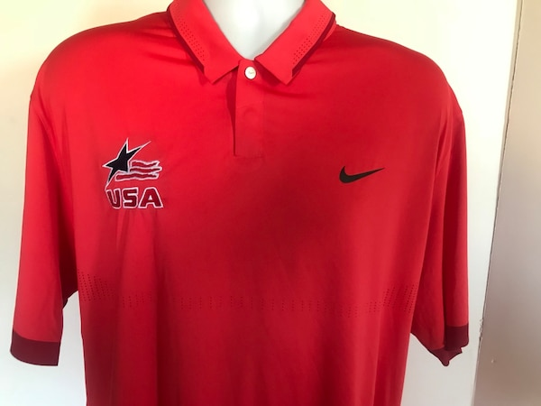 ded8d5e15 Used NIKE Dri Fit Golf Tiger Woods Collection USA Flag Star Embroidered Polo  Shirt XL for sale in Long Beach