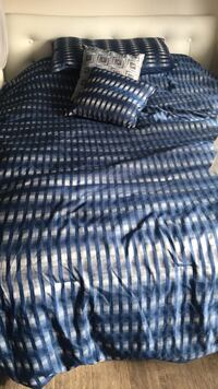 Black and white striped textile
