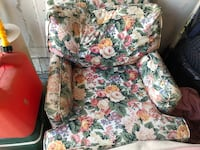 white, green, and red floral sofa chair Brampton, L6R 2S8