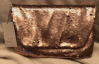 A new day Rose/silver sequin clutch purse Tipp City
