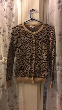 Cheetah print button cardigan