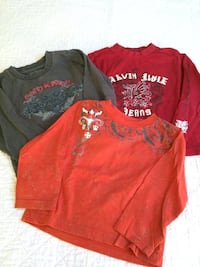 THREE Calvin Klein Long Sleeve T Shirts, Size 3T