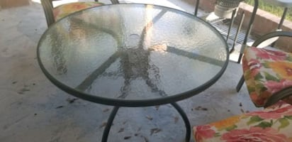 Patio furniture(iron with glass)