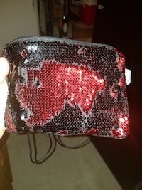 Sequin tablet purse
