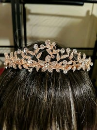 Rose gold tiara brand new in package