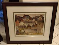 brown wooden framed painting.  Toronto, M1B 3C3