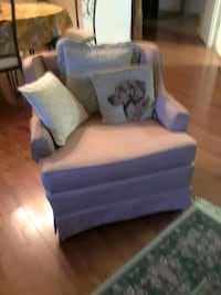 white and blue fabric sofa chair Silver Spring, 20906