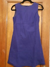 Womens purple sleeveless canvas dress