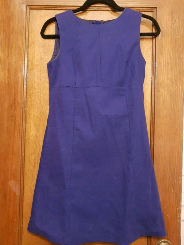 Womens purple sleeveless canvas dress 8a5631b3-5e27-460b-9a36-c70fe060190e