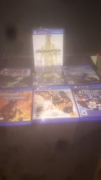 four assorted PS4 game cases Mississauga, L5C 1N8