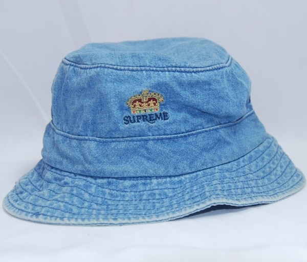 Used Supreme Crown Denim Bucket Hat BRAND NEW WITH TAGS for sale in Orland  Park - letgo 0c910bf7df5d