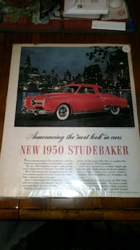 VINTAGE STUDEBAKER 1950S ADVERTISING PIECE  Chambersburg
