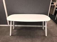 """Modern White Meeting Table - 60"""" White and 30"""" Deep Markham"""