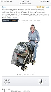 Rain Cover for Stroller or Baby Travel System Fairfax, 22030