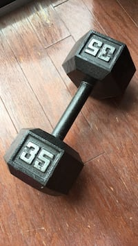 Iron Dumbbell, 35 lbs Washington, 20016