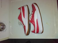 Red suede and white puma's Flint, 48504