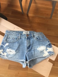 Blå denim Distressed Short Shorts Partille, 433 36