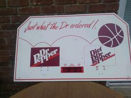 Shoot out Dr Pepper and Diet Dr Pepper Backboard