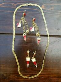 Gold/Red Costume Jewelry Kyle, 78640