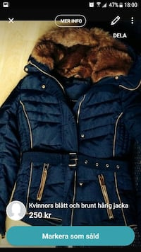 blå bubbla parka coat