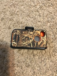 brown and black camouflage Otter iPhone case