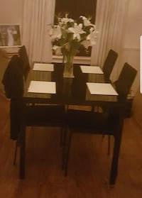 brown wooden table with chairs Brierley Hill, DY5 1UH