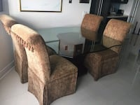 4 Fabric Dining Table Chairs originally from Bomba Mississauga, L5R 4A4