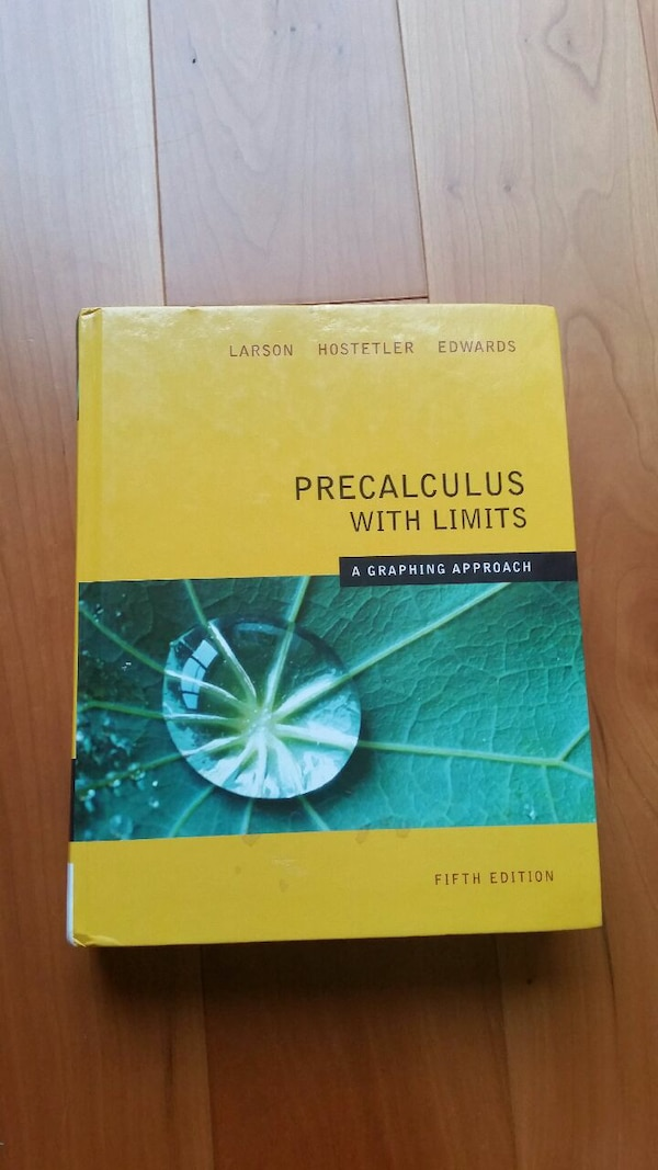 Precalculus With Limits Textbook