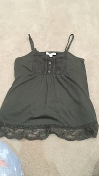 Olive Green embellished Cami Top size Medium, but seems like a small