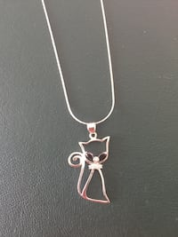 Magnolia Silver Kitten necklace