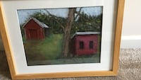red and green house painting