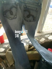 black and blue denim jeans Leavenworth