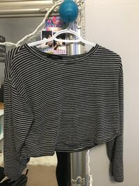 black and white striped scoop-neck shirt Barrie, L4M 6X4
