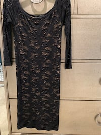 Black lace tube dress size medium  Riverside, 92503