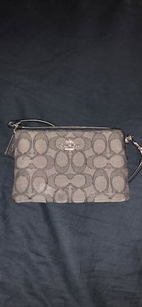 Gray monogrammed coach leather wristlet Mount Holly, 28120