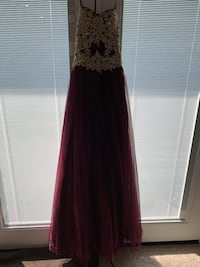 Plum and Gold Prom Dress W/Corset Finish Hampton, 23663