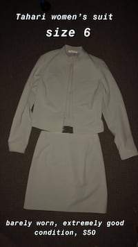 women's light grey two piece suit  Vancouver, V5W 1Z9