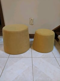 2 pc Ottoman, yellow or blue Whitchurch-Stouffville