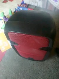 red and black motorcycle helmet 2343 mi