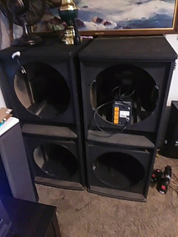 Two 18 inch subwoofer boxes