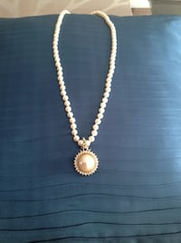 People's imitation pearl necklace and pendant.  Burlington, L7L 4L7