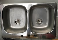 Stainless steal double side sink Vaughan, L4L 1A7