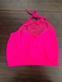 new hot pink lace top size small. 2220 mi