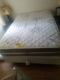 Full sized mattress, box spring,  rail and sheet set. District of Columbia