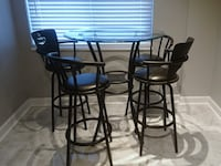 Glass Top Bar Height Table & 4 Chairs Arlington, 22209
