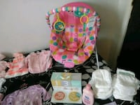 baby's pink and white bouncer Fredericksburg, 22408